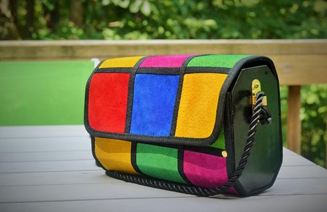 purse flea market find teen fashion blog 80's