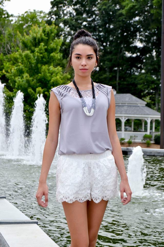 summer lace elegance ootd