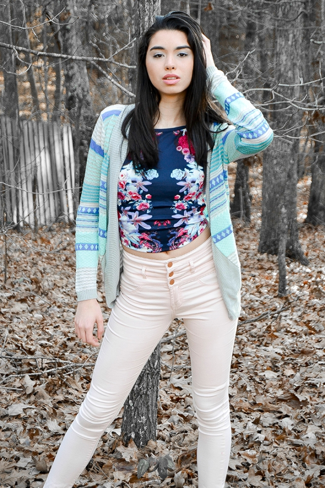 teen fashion cropped top high waisted pants cardigansandnecklaces.com